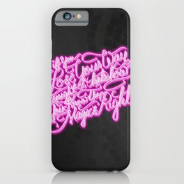 Daft Punk - Doin' It Right - Lettering iPhone Case