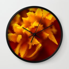 Marigold Macro Abstract Wall Clock