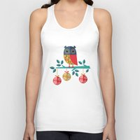 micklyn Tank Tops featuring WOOHOO IT'S CHRISTMAS! by Daisy Beatrice