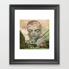 The world in my hands. Framed Art Print