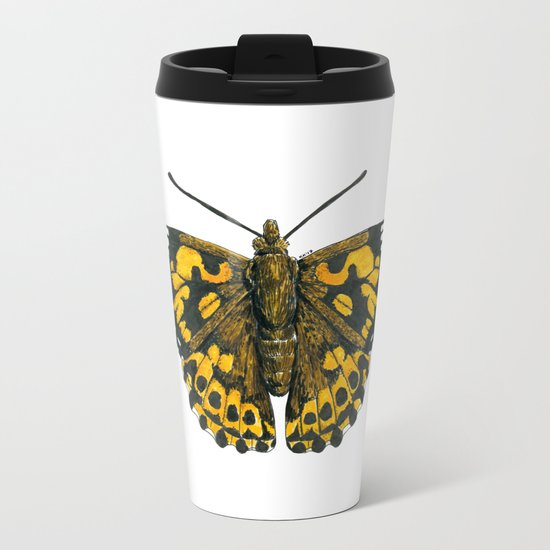 Painted lady butterfly Metal Travel Mug