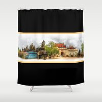 thailand Shower Curtains featuring Chinese Temple Thailand by Urbex :: Siam