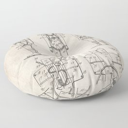 Parachute Pack Patent - Sky Diving Art - Antique Floor Pillow