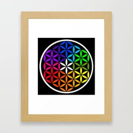 Secret flower of life Framed Art Print