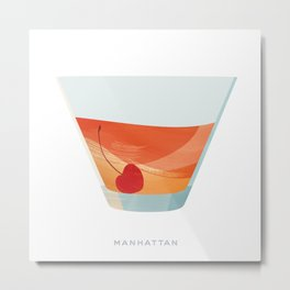 Cocktail Hour: Manhattan Metal Print
