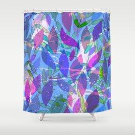 modern leaves pattern Shower Curtain