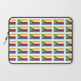 flag of comoros -comores,comorian,comorien,moroni,iles éparses,scattered island,indian ocean Laptop Sleeve