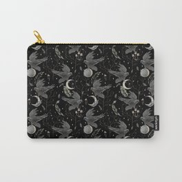 watercolor crow Carry-All Pouch