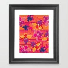 Fluor Flora - Hot Flamingo Framed Art Print