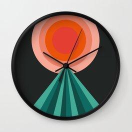 Way Decent - 70s retro throwback minimal sun california socal 1970's style Wall Clock
