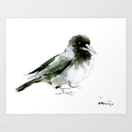 Crow, hooded crow art design Art Print