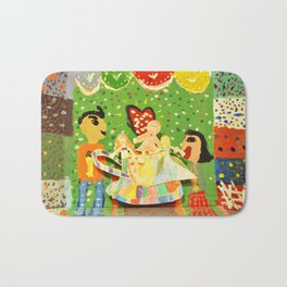 The cup of Rosalia | Full of fairy tales | Painting by Elisavet Bath Mat