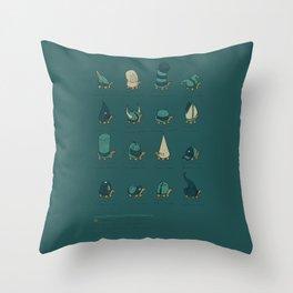 A Study of Turtles Throw Pillow