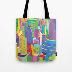 Cityscape windows Tote Bag