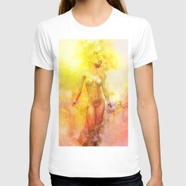 The Girl with the Sun in Her Hair - Summer Bloom T-shirt