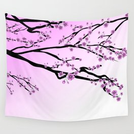 Pink Blossoms Wall Tapestry