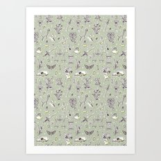 Witchcraft Pattern Art Print