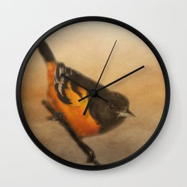 Baltimore Oriole Wall Clock