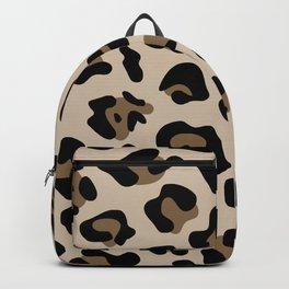 Big Beige and Brown Leopard Spots Backpack