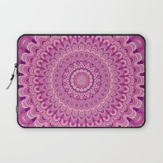 Pink flower mandala Laptop Sleeve