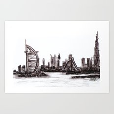 Dubai day Art Print