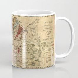 Vintage Geological Map of Virginia (1874) Coffee Mug