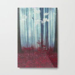 gateways - surreal abstract forest Metal Print