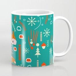 Cute fox waiting for Christmas Coffee Mug