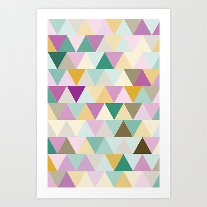 Triangles Colorful Pattern Art Print