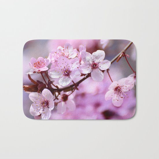 """Pink dreams"". Spring is here. Bath Mat"