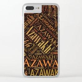 Azawakh dog Word Art Clear iPhone Case