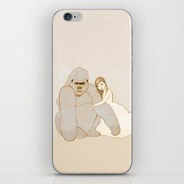 Gorilla and Girl iPhone Skin