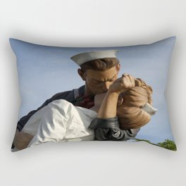 Kissing Sailor And Nurse Portrait Rectangular Pillow