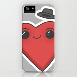 heart in hat iPhone Case