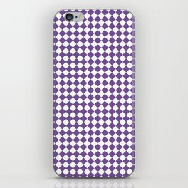 Small Diamonds - White and Dark Lavender Violet iPhone Skin