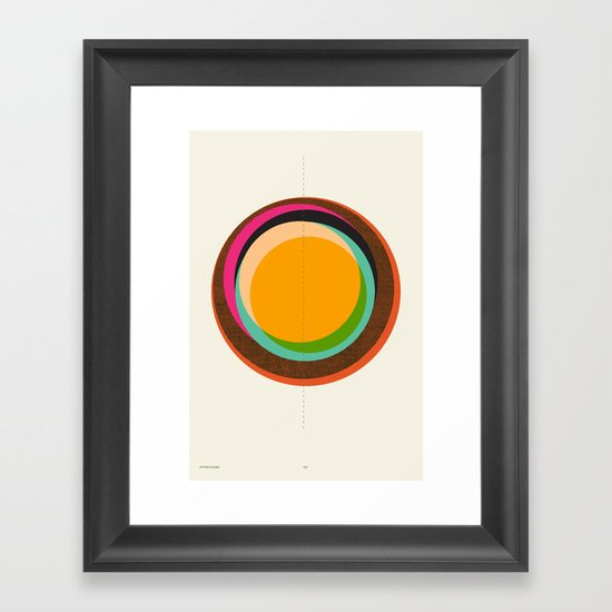 FUTURE GLOBES 001 Framed Art Print