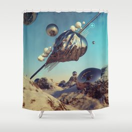 MAGNETIC HIDE AND SEEK Shower Curtain