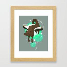 Otter Bookmark Framed Art Print