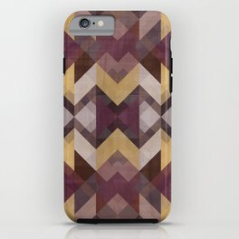 Purple symmetrical pattern iPhone Case