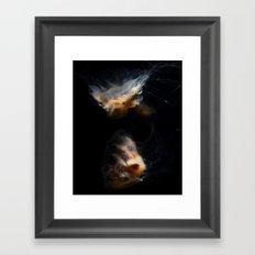 Cream Jellyfish Framed Art Print
