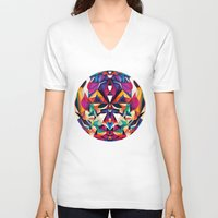 shipping V-neck T-shirts featuring Emotion in Motion by Anai Greog