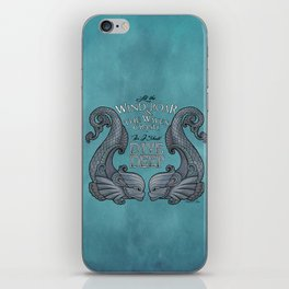 Dive Deep - Silver Dolphins iPhone Skin