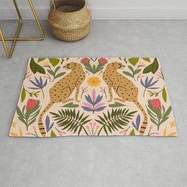 Modern colorful folk style cheetah print  Rug