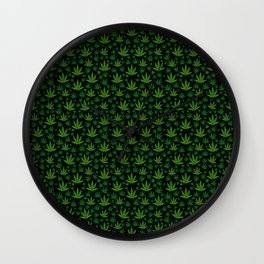 Tiled Weed Pattern Wall Clock