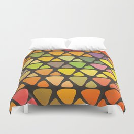 Bright colorful abstract triangles retro pattern Duvet Cover