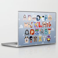 pixar Laptop & iPad Skins featuring P is for Pixar (Pixar Alphabet) by Mike Boon