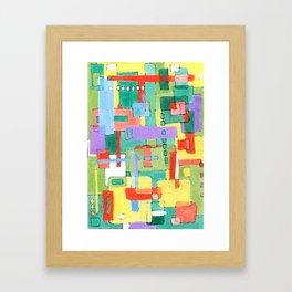 Cocktails in the City Framed Art Print