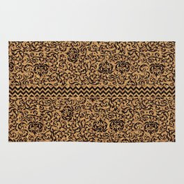 Golden Renaissance Damask Rug