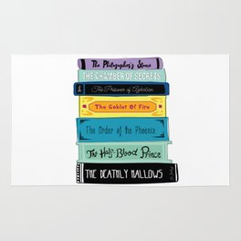 Hogwarts Stack of Wizardly Books Rug