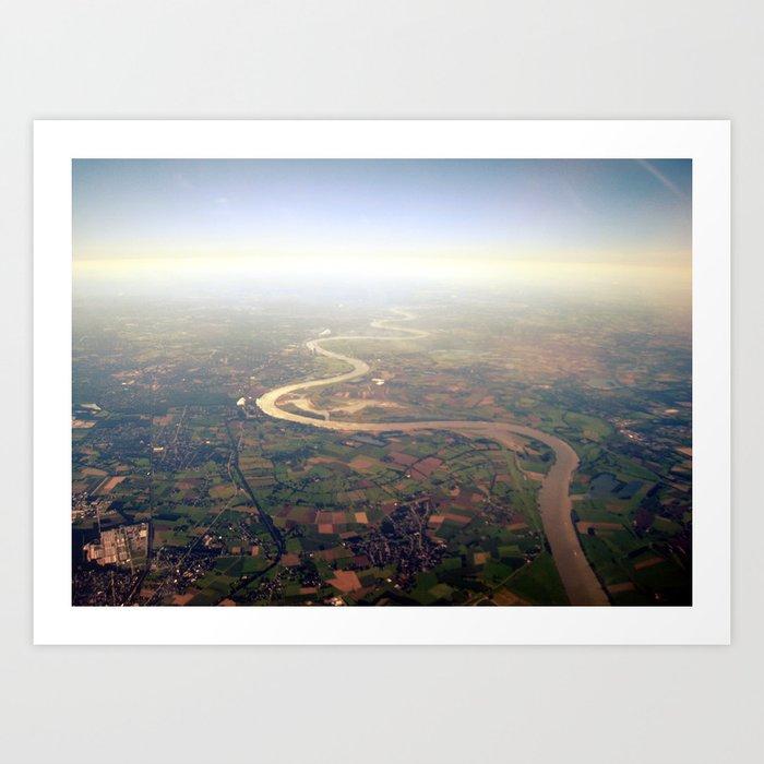 rhine from above. Art Print
